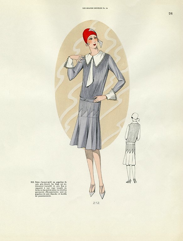 Womens Fashion 1929 FW22 - Framed Vintage Artwork from Interior Elements, Eagle WI