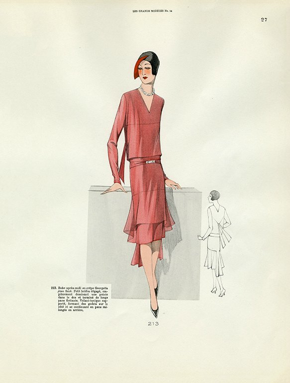 Womens Fashion 1929 FW23 - Framed Vintage Artwork from Interior Elements, Eagle WI