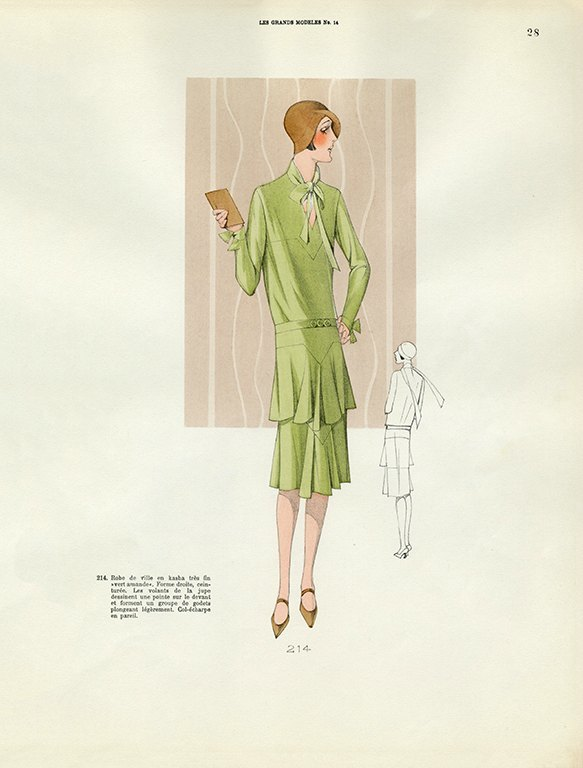 Womens Fashion 1929 FW24 - Framed Vintage Artwork from Interior Elements, Eagle WI