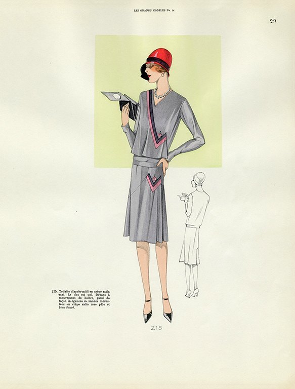 Womens Fashion 1929 FW25 - Framed Vintage Artwork from Interior Elements, Eagle WI