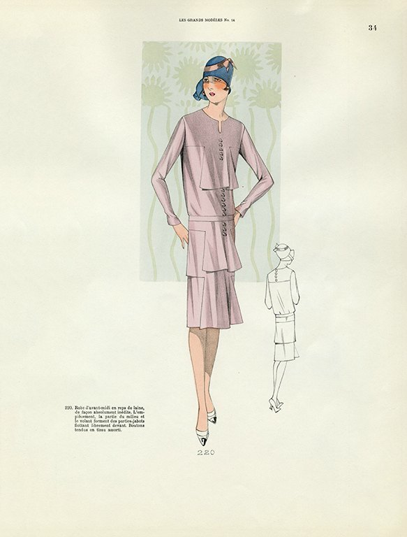 Womens Fashion 1929 FW30 - Framed Vintage Artwork from Interior Elements, Eagle WI