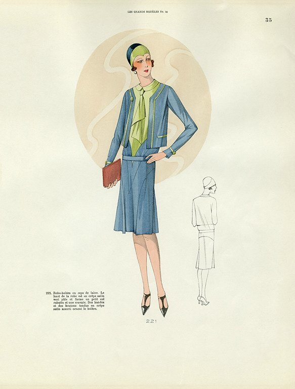 Womens Fashion 1929 FW31 - Framed Vintage Artwork from Interior Elements, Eagle WI