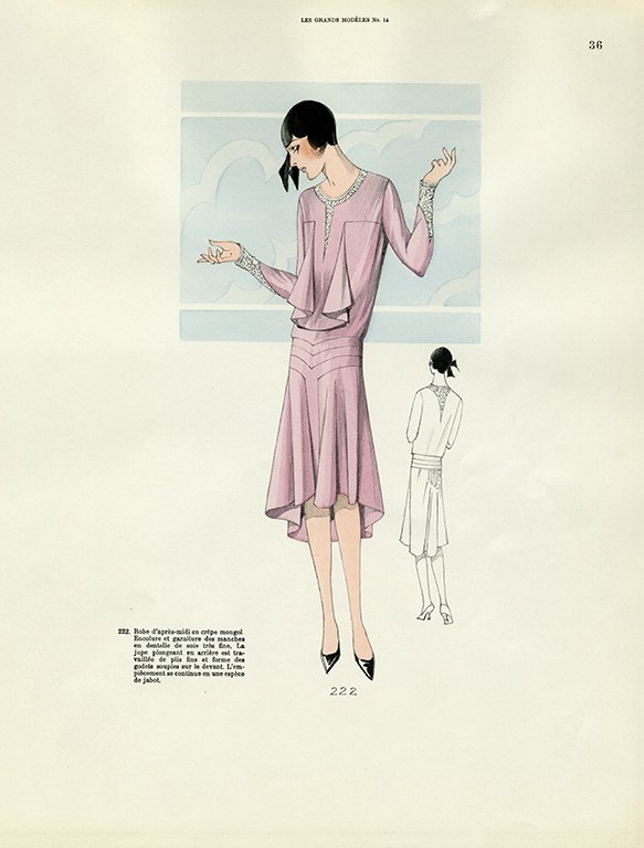 Womens Fashion 1929 FW32 - Framed Vintage Artwork from Interior Elements, Eagle WI