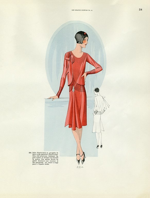 Womens Fashion 1929 FW34 - Framed Vintage Artwork from Interior Elements, Eagle WI
