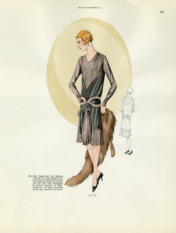 Womens Fashion 1929 FW35 - Framed Vintage Artwork from Interior Elements, Eagle WI