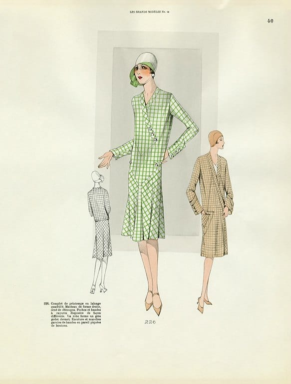 Womens Fashion 1929 FW36 - Framed Vintage Artwork from Interior Elements, Eagle WI