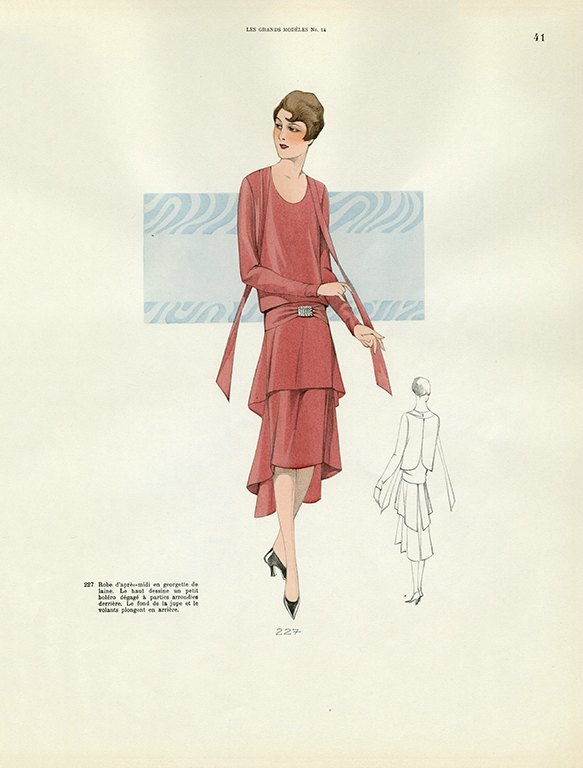 Womens Fashion 1929 FW37 - Framed Vintage Artwork from Interior Elements, Eagle WI