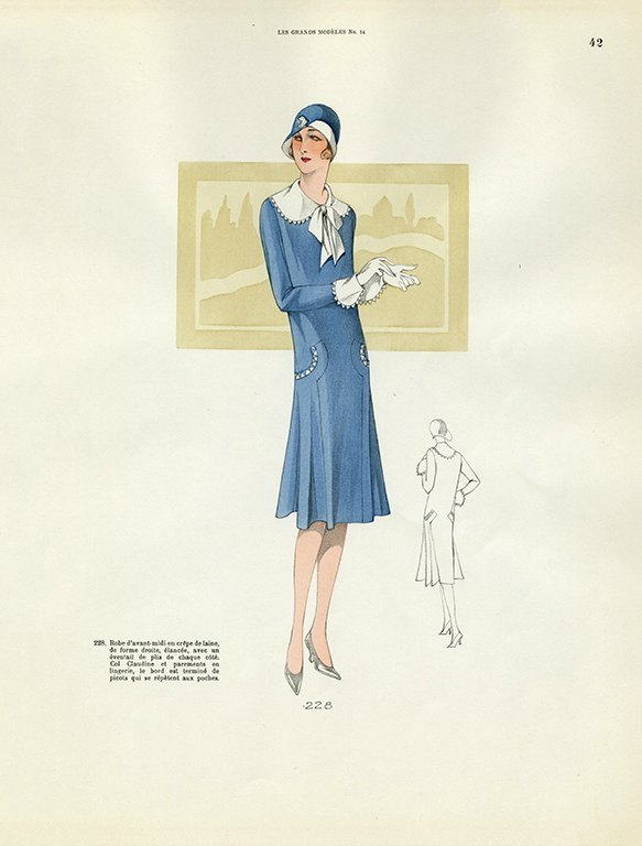 Womens Fashion 1929 FW38 - Framed Vintage Artwork from Interior Elements, Eagle WI