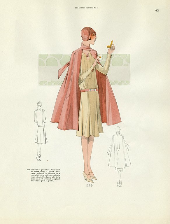 Womens Fashion 1929 FW39 - Framed Vintage Artwork from Interior Elements, Eagle WI