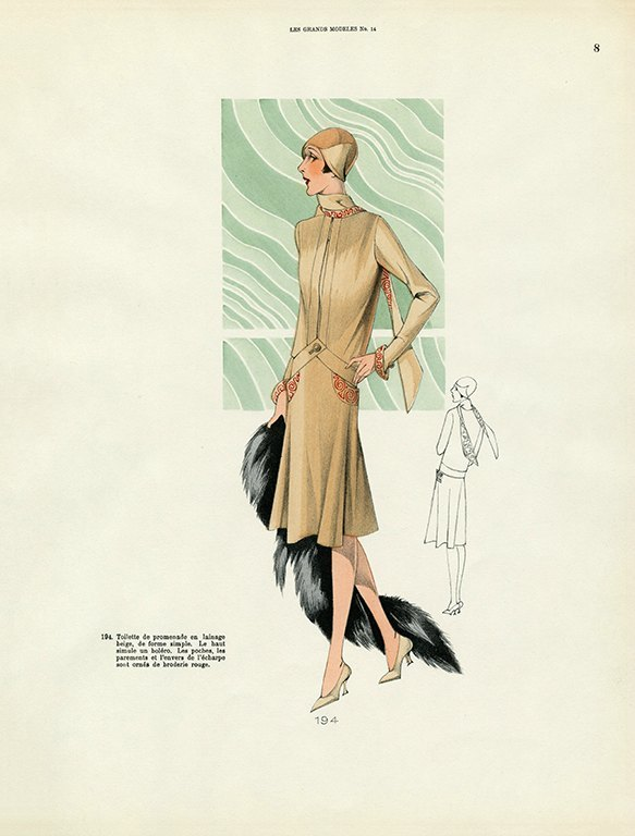 Womens Fashion 1929 FW4 - Framed Vintage Artwork from Interior Elements, Eagle WI