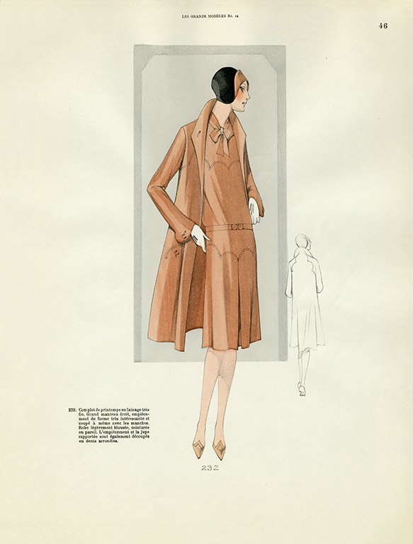 Womens Fashion 1929 FW42 - Framed Vintage Artwork from Interior Elements, Eagle WI