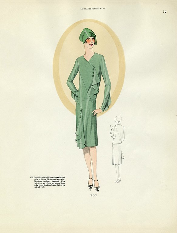 Womens Fashion 1929 FW43 - Framed Vintage Artwork from Interior Elements, Eagle WI