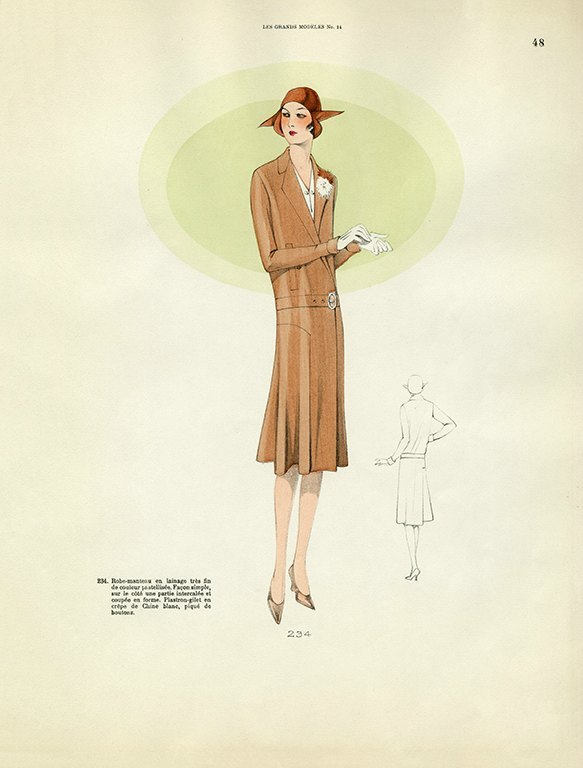 Womens Fashion 1929 FW44 - Framed Vintage Artwork from Interior Elements, Eagle WI