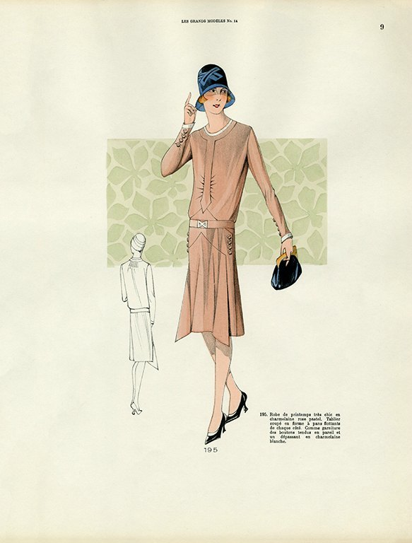 Womens Fashion 1929 FW5 - Framed Vintage Artwork from Interior Elements, Eagle WI