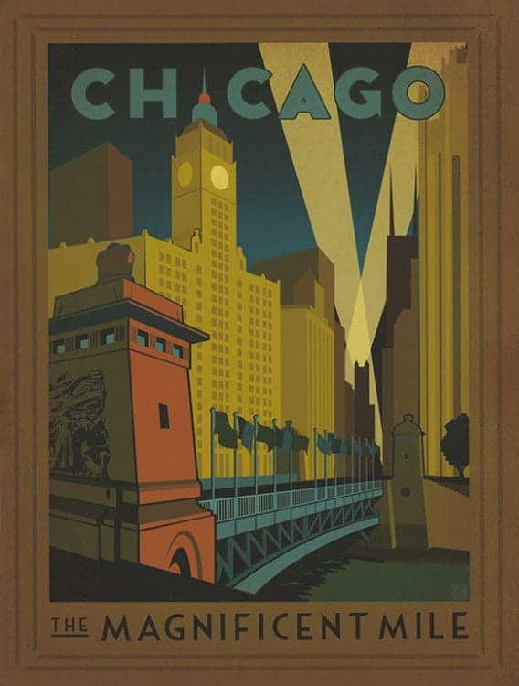 Chicago-Magnificent-Mile-CHIMM - Framed Artwork from Interior Elements, Eagle, WI