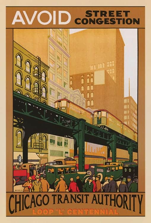 Chicago-Transit-Authority-CHITA - Framed Artwork from Interior Elements, Eagle, WI