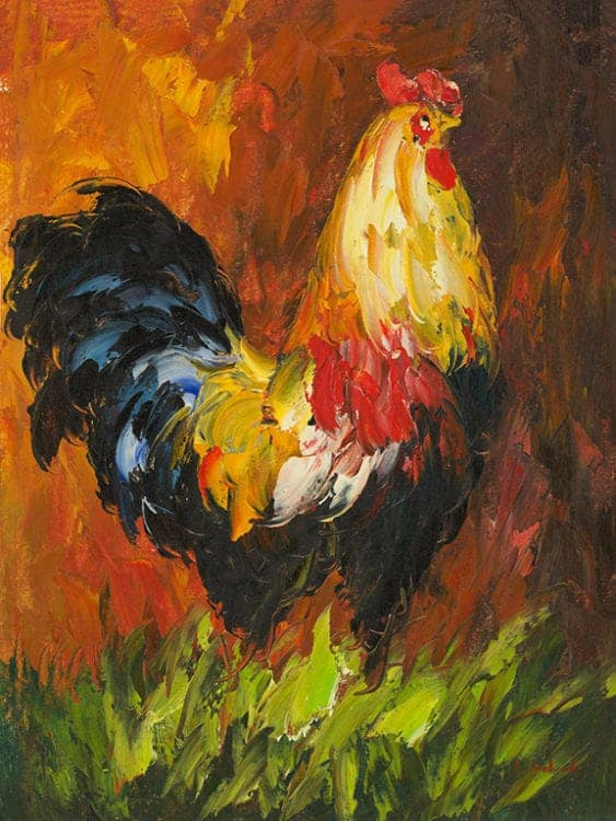 Chicken-Chick2 - Framed Artwork from Interior Elements, Eagle, WI