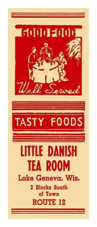 Danish-Tea-Room-Lake-Geneva-MCLGDTR - Framed Vintage Artwork from Interior Elements, Eagle WI