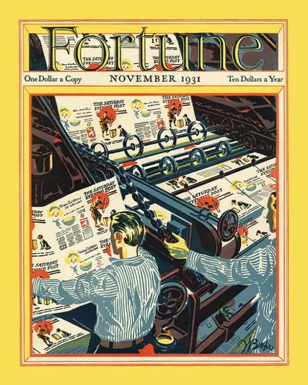 Fortune-Magazine-FMC2 - Framed Vintage Artwork from Interior Elements, Eagle WI
