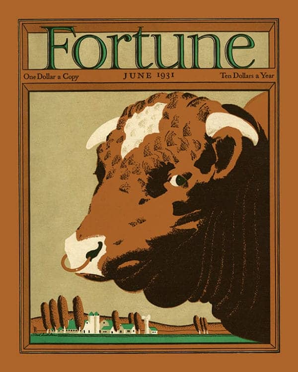 Fortune-Magazine-FMC4 - Framed Vintage Artwork from Interior Elements, Eagle WI