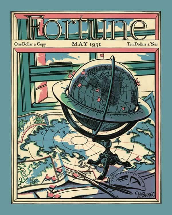 Fortune-Magazine-FMC6 - Framed Vintage Artwork from Interior Elements, Eagle WI