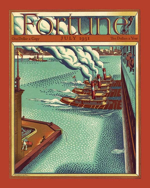 Fortune-Magazine-FMC8 - Framed Vintage Artwork from Interior Elements, Eagle WI