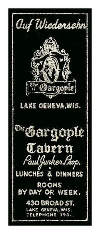 Gargoyle-Lake-Geneva-MCLGG - Framed Vintage Artwork from Interior Elements, Eagle WI
