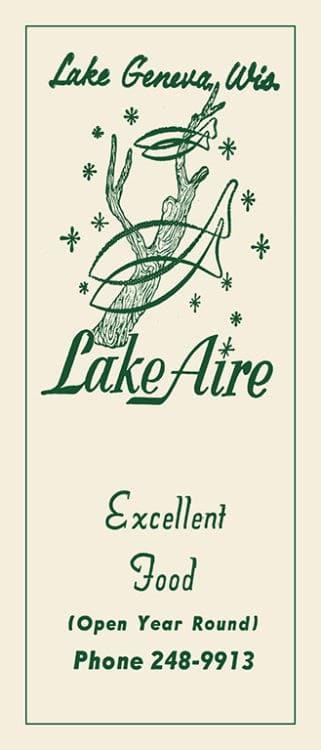 Lake-Aire-Lake-Geneva-MCLGLA - Framed Vintage Artwork from Interior Elements, Eagle WI