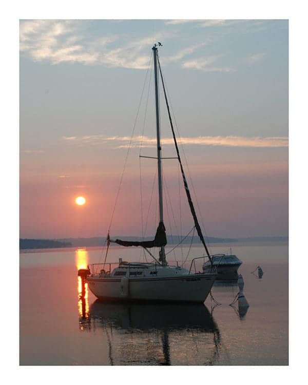 Nautical-Boat-Sunset-Photo-CL8 - Framed Photography / Artwork from Interior Elements, Eagle WI