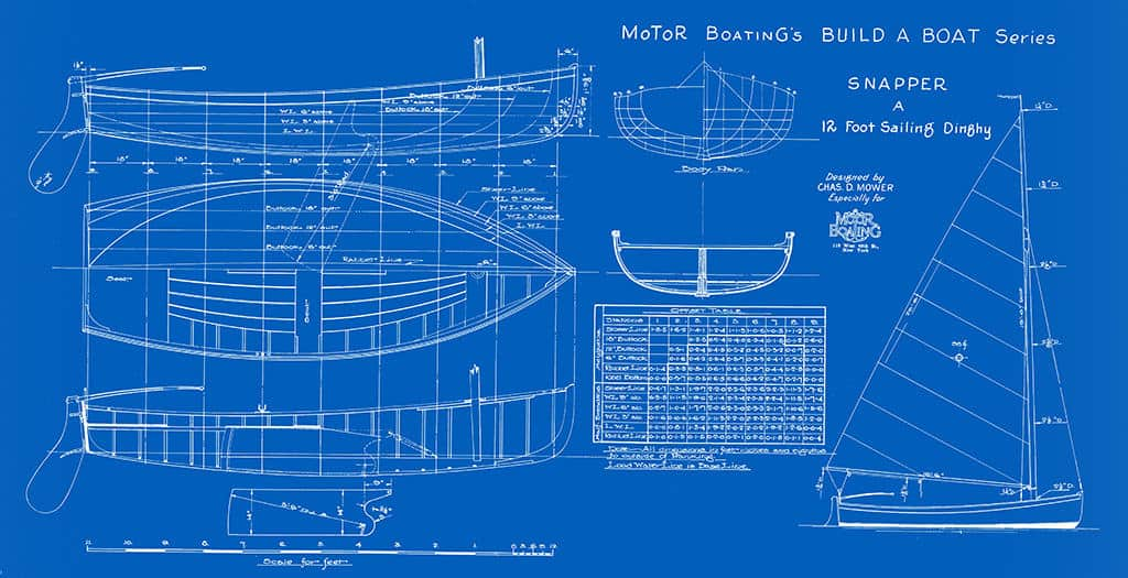 Nautical-Ship-Boat-Blueprint-BP1-2 - Framed Vintage Artwork from Interior Elements, Eagle WI