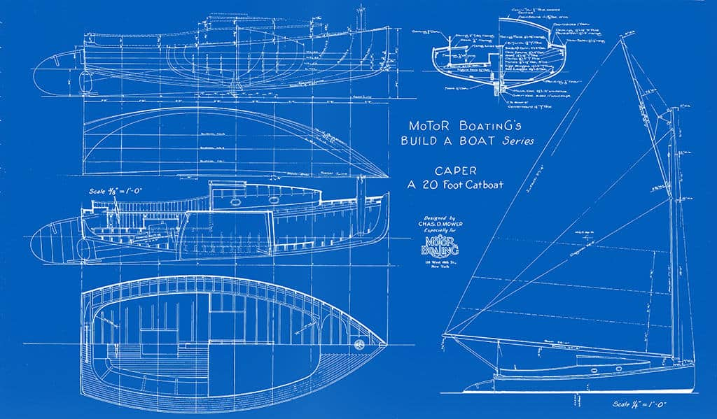 Nautical-Ship-Boat-Blueprint-BP3-2 - Framed Vintage Artwork from Interior Elements, Eagle WI
