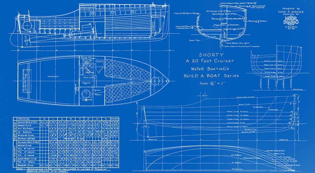 Nautical-Ship-Boat-Blueprint-BP4-2 - Framed Vintage Artwork from Interior Elements, Eagle WI