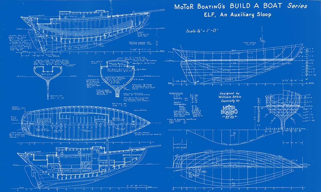 Nautical-Ship-Boat-Blueprint-BP6-2 - Framed Vintage Artwork from Interior Elements, Eagle WI