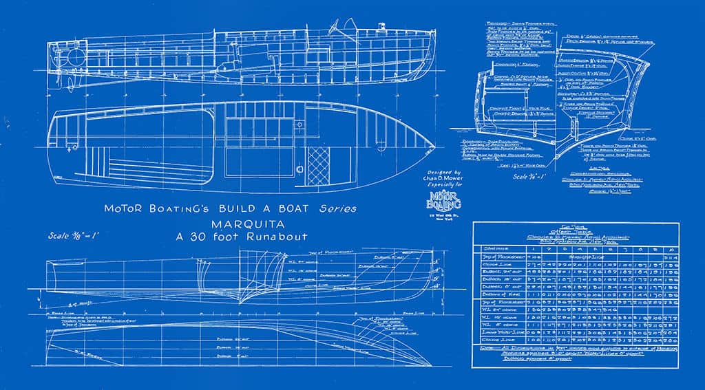 Nautical-Ship-Boat-Blueprint-BP8-2 - Framed Vintage Artwork from Interior Elements, Eagle WI