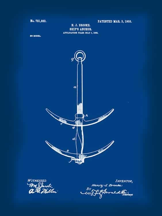 Patent-Boating-PatB1 - Framed Vintage Artwork from Interior Elements, Eagle WI