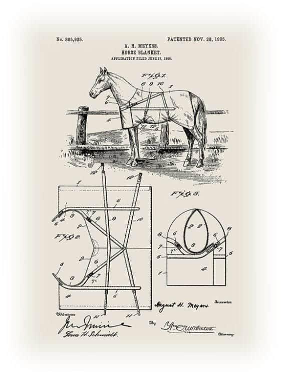 Patent-Horse-PatH2 - Framed Vintage Artwork from Interior Elements, Eagle WI
