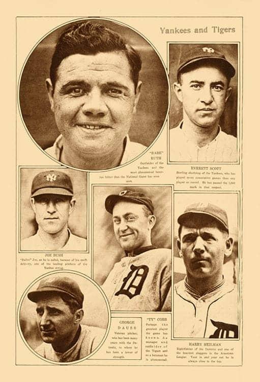 sports-baseball-bb6-2 - Framed Vintage Artwork from Interior Elements, Eagle WI