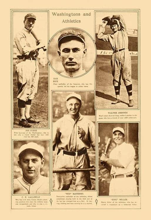 Sports-Baseball-BB7-2 - Framed Vintage Artwork from Interior Elements, Eagle WI