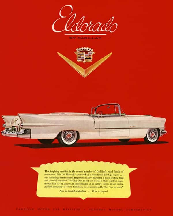 automobile-cars-cadillac-autoca2-Framed Vintage Artwork from Interior Elements, Eagle WI
