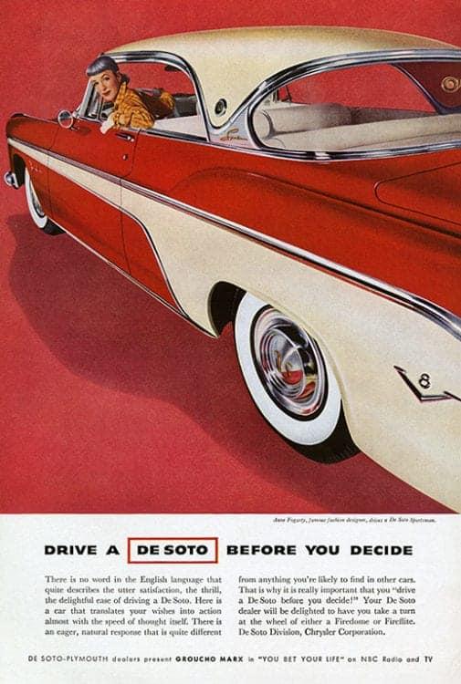 automobile-cars-desoto-autode-Framed Vintage Artwork from Interior Elements, Eagle WI