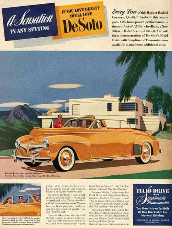 automobile-cars-desoto-autode2-Framed Vintage Artwork from Interior Elements, Eagle WI