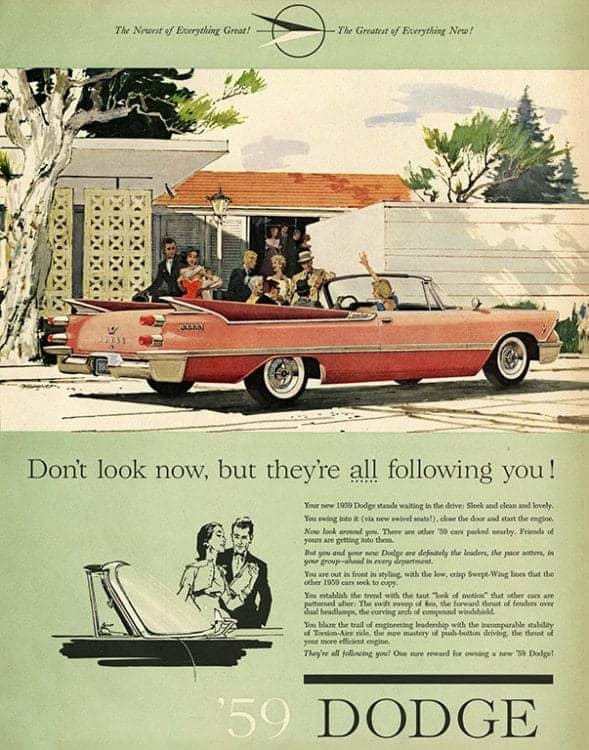 automobile-cars-dodge-autodo1-Framed Vintage Artwork from Interior Elements, Eagle WI