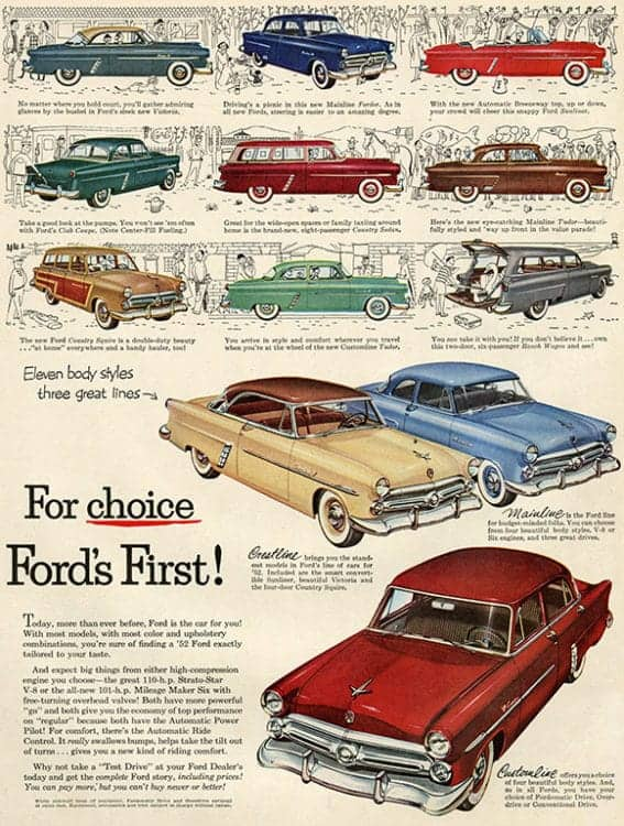 automobile-cars-ford-autof5-Framed Vintage Artwork from Interior Elements, Eagle WI