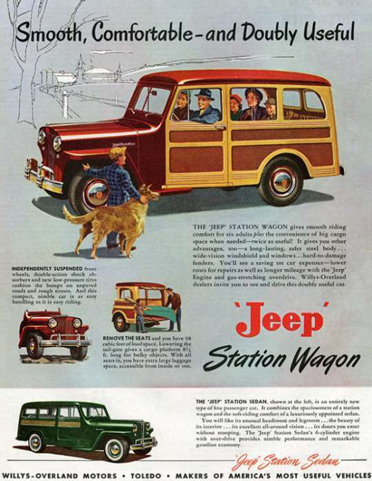 automobile-cars-jeep-autojeep-1-Framed Vintage Artwork from Interior Elements, Eagle WI