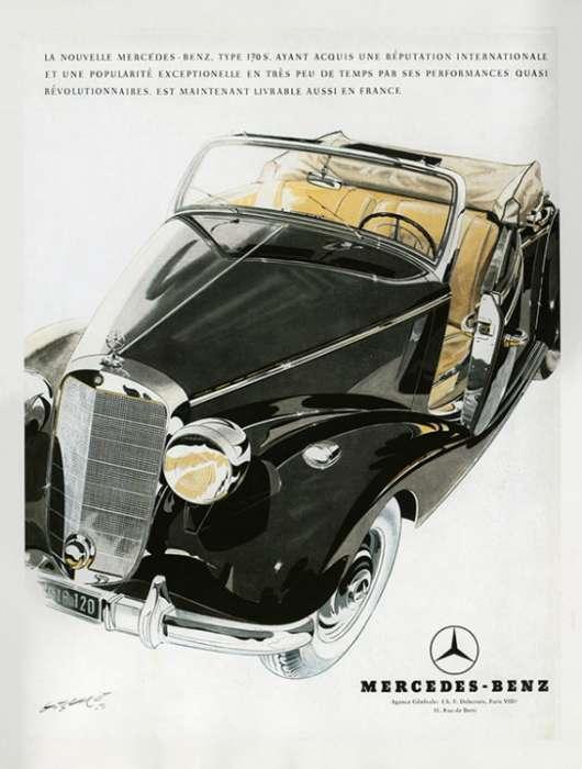 automobile-cars-mercedes-automercedes1-Framed Vintage Artwork from Interior Elements, Eagle WI