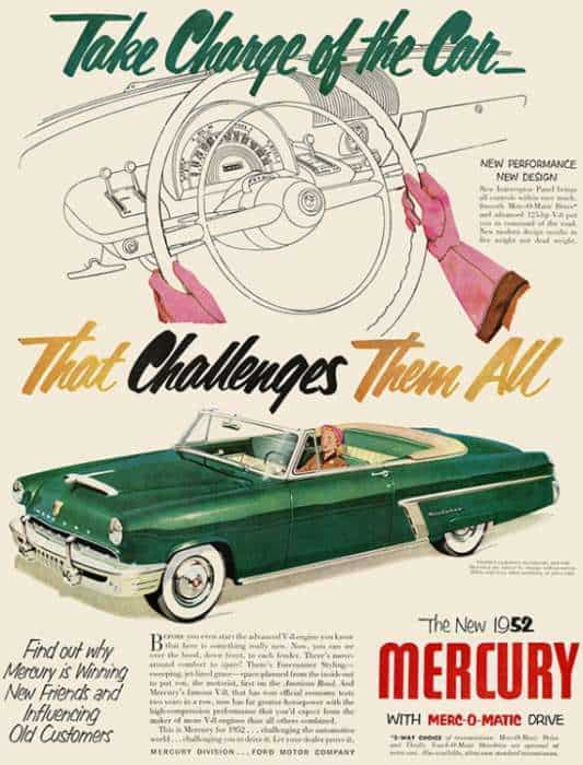 automobile-cars-mercury-automercury1-Framed Vintage Artwork from Interior Elements, Eagle WI