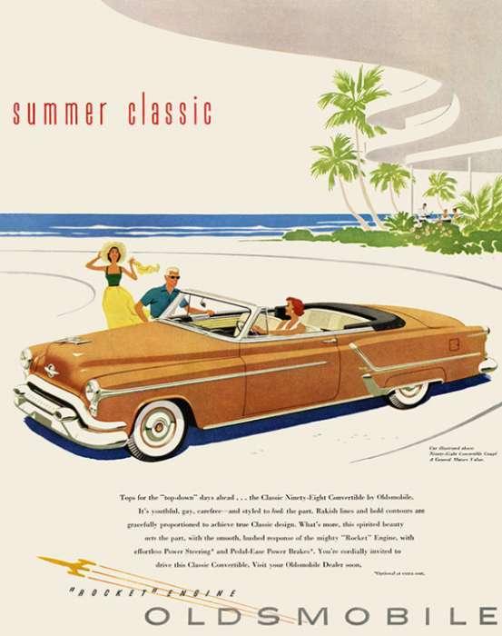 automobile-cars-oldsmobile-autoolds1-Framed Vintage Artwork from Interior Elements, Eagle WI