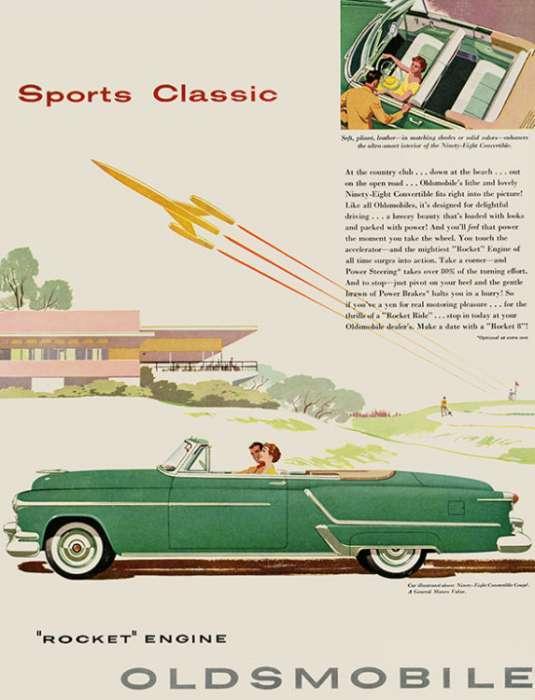 automobile-cars-oldsmobile-autoolds3-Framed Vintage Artwork from Interior Elements, Eagle WI