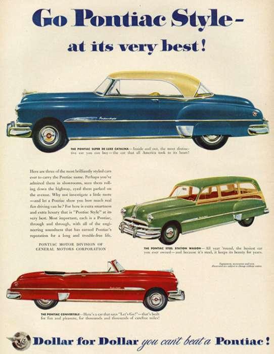 automobile-cars-pontiac-autop1-Framed Vintage Artwork from Interior Elements, Eagle WI