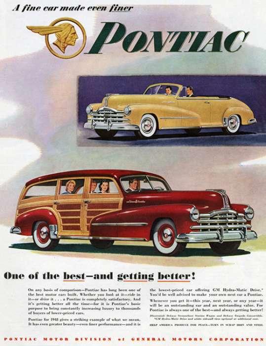 automobile-cars-pontiac-autop3-Framed Vintage Artwork from Interior Elements, Eagle WI